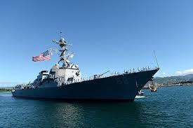 US navy off China
