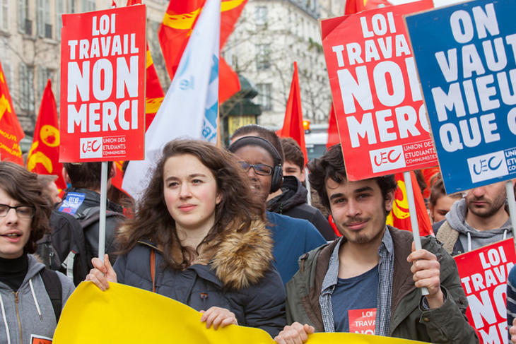 French labour law protests