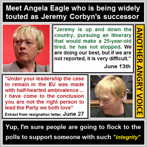 Angela Eagle demolition