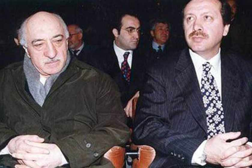 Until an open clash in 2013, Fetullah Gülen (left) was the éminence grise behind Recep Erdoğan's AK Party; Gülen is widely branded in Turkey as a CIA asset