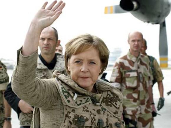 Merkel and army