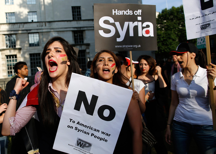 Syria-No-war-protest