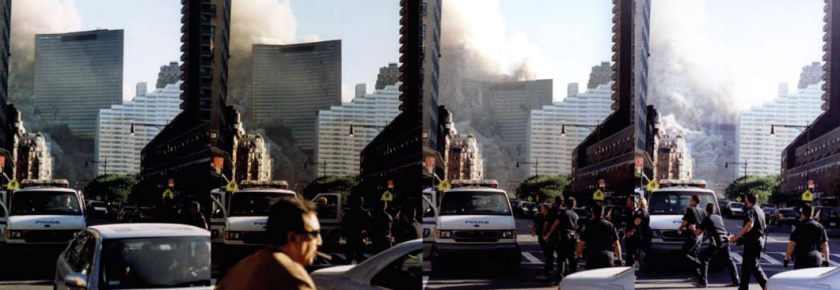 FIG.2: WTC7fell symmetrically and at free-fall acceleration for a period of 2.25 seconds of its collapse (Source: NIST).