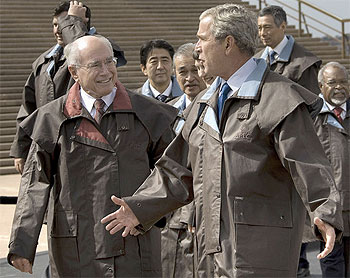 John Howard and George W. Bush at APEC in Sydney 2007, Source: The Guardian