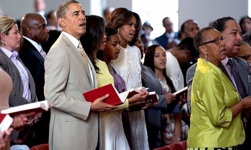 obamas-in-church