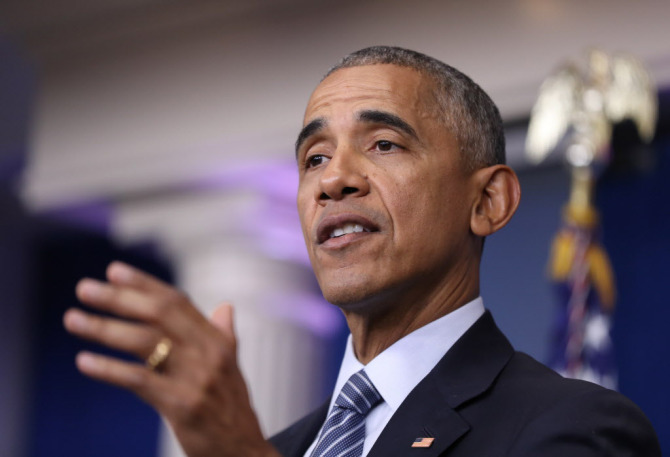 President Barack Obama speaks during a news conference in the Brady press briefing room at the White House in Washington, Monday, Nov. 14, 2016. (AP Photo/Manuel Balce Ceneta) ORG XMIT: OTKMC101