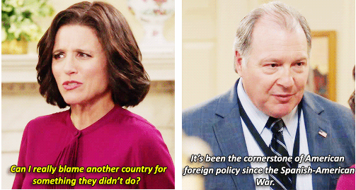 "When real life overtakes fiction – exchange from HBO's satirical show ""Veep"""