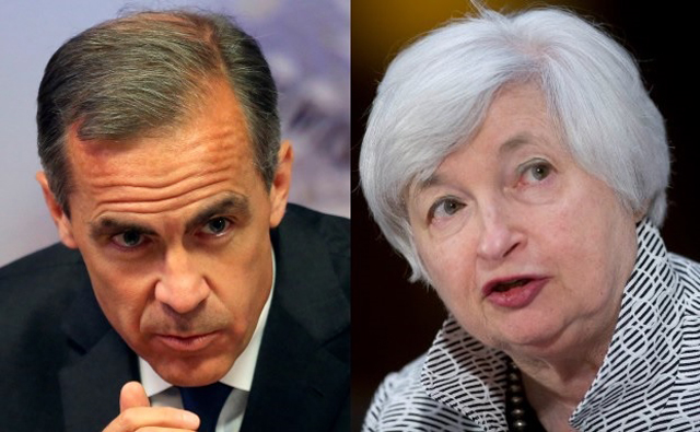 Pictured: Mark Carney and Janet Yellen