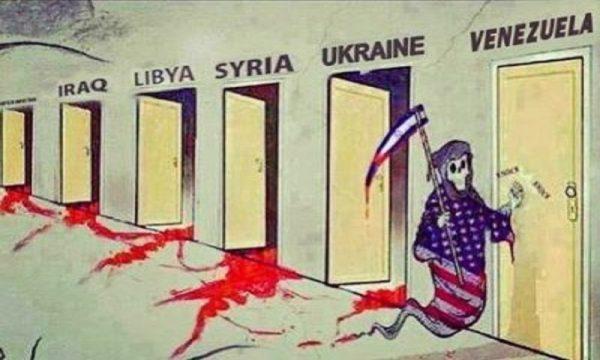 Бешенная империя против Венесуэлы.