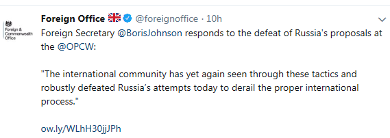Foreign Office tweet Скриншот-28-03-2018-101709