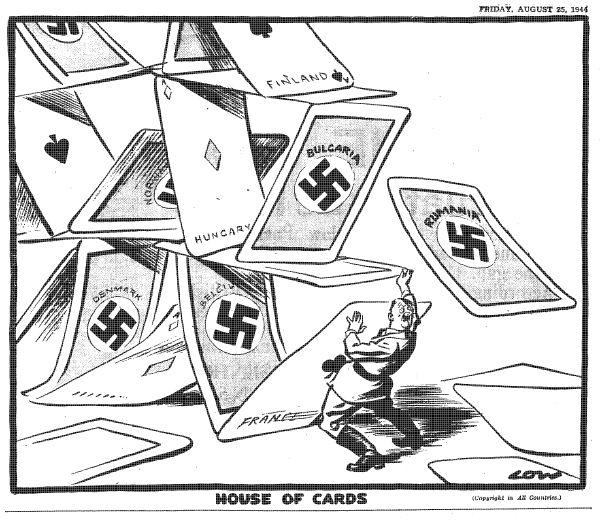 Nazi House of Cards cartoon