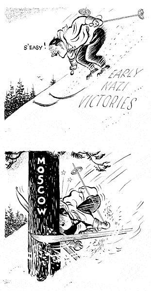 Nazis hit headlong into a tree cartoon
